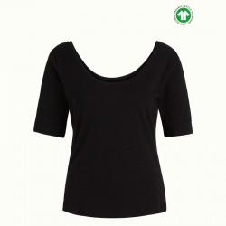 KING LOUIE Tee-shirt BALLERINA TOP BLACK