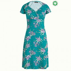 KING LOUIE GINA DRESS ROSELLE AZURE GREEN