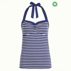 KING LOUIE LUCY TOP BRETON STRIPE BLUE