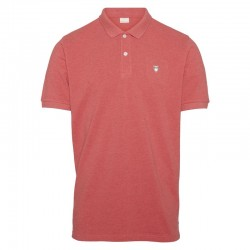 KNOWLEDGE COTTON APPAREL PIQUE POLO-CORAL
