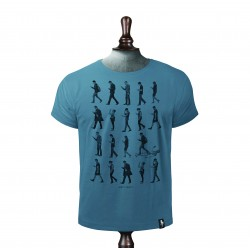 Phone Zombies T-shirt – Noble blue