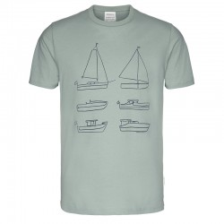 T-SHIRT JAAMES SIX BOATS GREEN CHINOIS