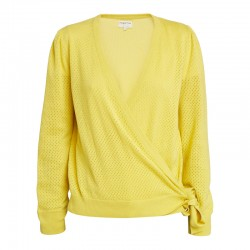 CARDIGAN SARA WRAP JAUNE people tree