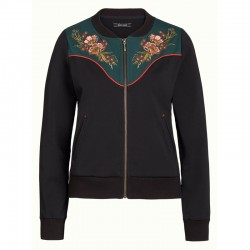 ZIP UP JACKET WESTERN SWEAT BLACK
