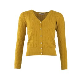 CARDIGAN GERDY MUSTARD FROY AND DIND
