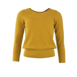 TOP LIVIA LONG SLEEVES MUSTARD