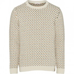 JACQUARD O-NECK WINTER WHITE
