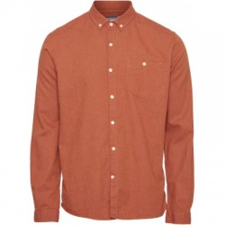 FLANNEL SHIRT PERSIMMON ORANGE