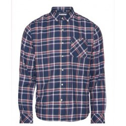 CHECKED BUTTON DOWN SHIRT 1188 DARK DENIM