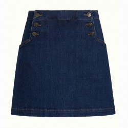 SAILOR SKIRT DENIM BLUE