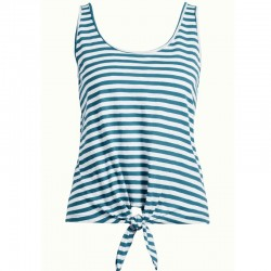 KNOT SINGLET STRIPE ROYALE BAY BLUE XS