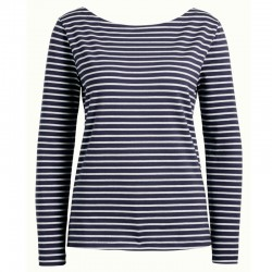 PAULETTE TOP BRETON STRIPE BLUE
