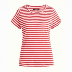 CATH T-SHIRT STRIPE ROYALE CHILI RED