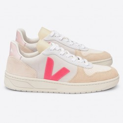 V-10 SUEDE MULTICO_NATURAL_ROSE-FLUO