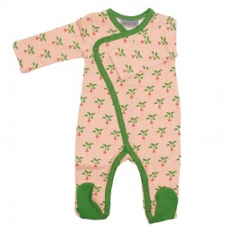 JUMPSUIT WITH FEET RADISH