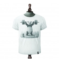PANDA POWER T-SHIRT VINTAGE WHITE