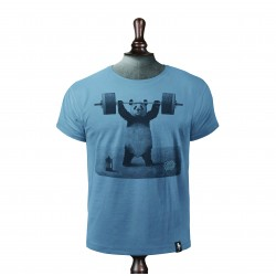 PANDA POWER T-SHIRT NOBLE BLUE