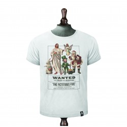 THE FICTITIOUS FIVE T-SHIRT VINTAGE WHITE