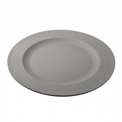 LARGE PLATE HAMMERED GREY
