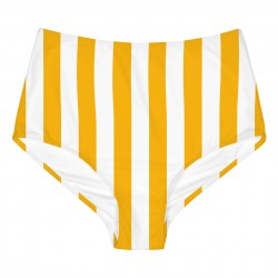 BIKINI PANTS SLITE BIG STRIPES YELLOW
