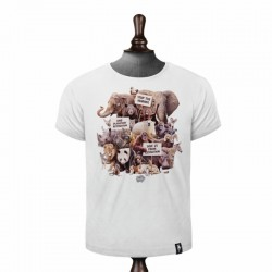 DIRTY VELVET ANIMAL ACTIVISTS T-SHIRT VINTAGE WHITE
