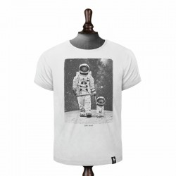 DIRTY VELVET MOON WALKIES T-SHIRT VINTAGE WHITE