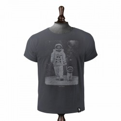 DIRTY VELVET MOON WALKIES T-SHIRT CHARCOAL