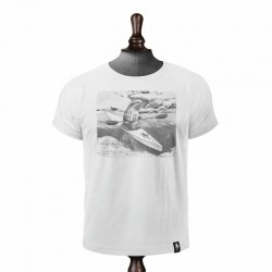 DIRTY VELVET RIVER RACER T-SHIRT VINTAGE WHITE