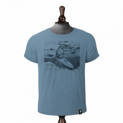 DIRTY VELVET RIVER RACER T-SHIRT NOBLE BLUE