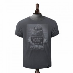 DIRTY VELVET MR. MOLE T-SHIRT CHARCOAL