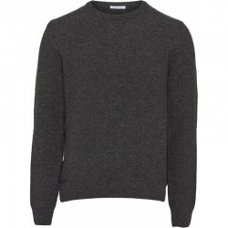 KCA FIELD DARK GREY MELANGE REVERSED WOOL KNIT