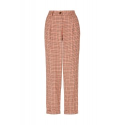 ANNIS HOUNDSTOOTH TROUSERS BROWN MULTI