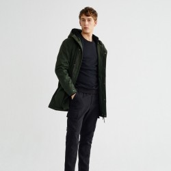 THINKING MU TRASH PEPS COAT DARK GREEN