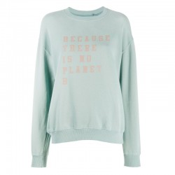 ECOALF CERVINO SWEATSHIRT WOMAN BLUE ICE