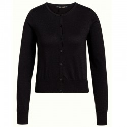 KING LOUIE CARDI ROUNDNECK ORGANIC LAPIS BLACK