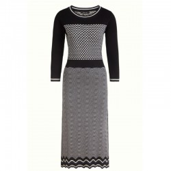 BELLA KNIT DRESS ELDORADO BLACK  XS