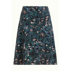 BORDER SKIRT MONTEREY BLACK