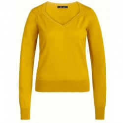 DIAMOND KNIT TOP CURRY YELLOW XS