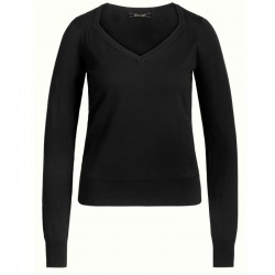 DIAMOND KNIT TOP BLACK XS
