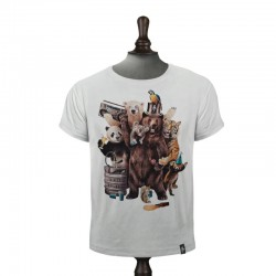PARTY ANIMALS T-SHIRT VINTAGE WHITE