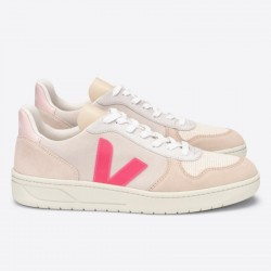 V-10 SUEDE MULTICO NATURAL ROSE FLUO