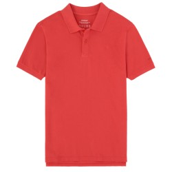 ECOALF TED POLO DARK CORAL
