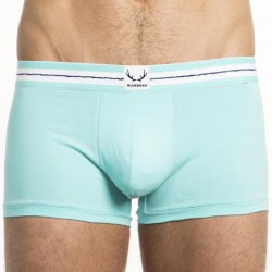 TRUNK TURQUOISE TRUNK WHITE STITCH