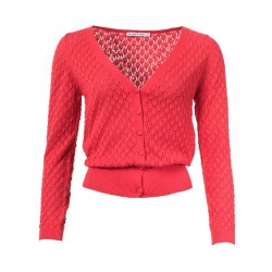 FROY & DIND CARDIGAN  GERDY  HIBISCUS