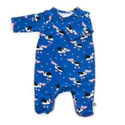 FROY & DIND JUMPSUIT OTTO WITH FEET PELICAN