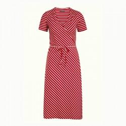 MANDY WRAP DRESS CHILI RED
