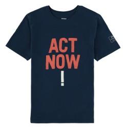ECOALF T-SHIRT ACT NOW NAVY