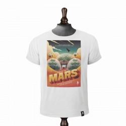LIFE ON MARS T-SHIRT VINTAGE WHITE