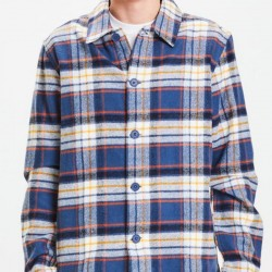 PINE BIG CHECKED HEAVY FLANNEL OVERSHIRT TOTAL ECLIPSE