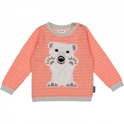 PULL MIBO OURS POLAIRE ROSE